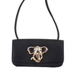 Leather Mini Satchel Elephant Bag