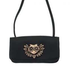 Leather Mini Satchel Owl Bag