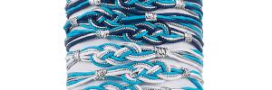 Two-Tone Nautical Knot Bracelet on tube