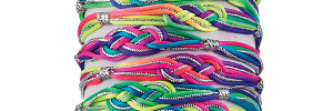 Rainbow Ombre Sailor Knot Bracelet on tube