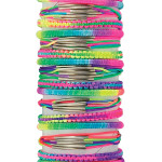 Three Style Asst Satin Ombre Bracelet on Tube