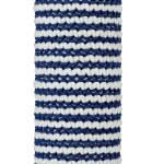 White & Navy Cotton Macrame Bracelet on tube