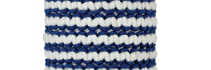 White & Navy Cotton Macrame Bracelet on tube