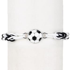 Enamel Soccer Loom Loopz Bracelet
