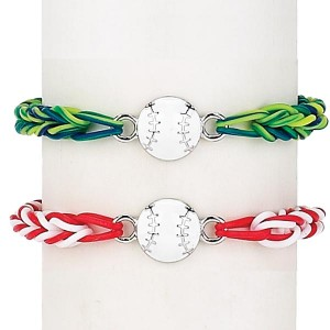 Enamel Baseball Loom Loopz Bracelet