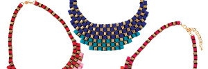 Woven Ribbon Statement Necklace