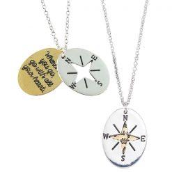 Compass Cut-Out Necklace