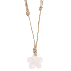 Bone Flower Hemp Necklace