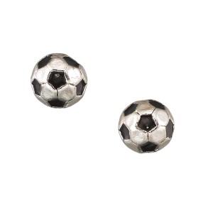Enamel Soccer Ball Stud Earring