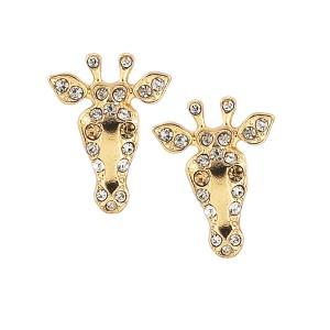 Rhinestone Giraffe Stud Earring