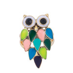 Multi-Colored Enamel Owl RING