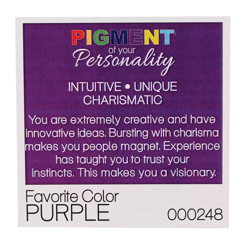 u201cpigment of your personality u201d program