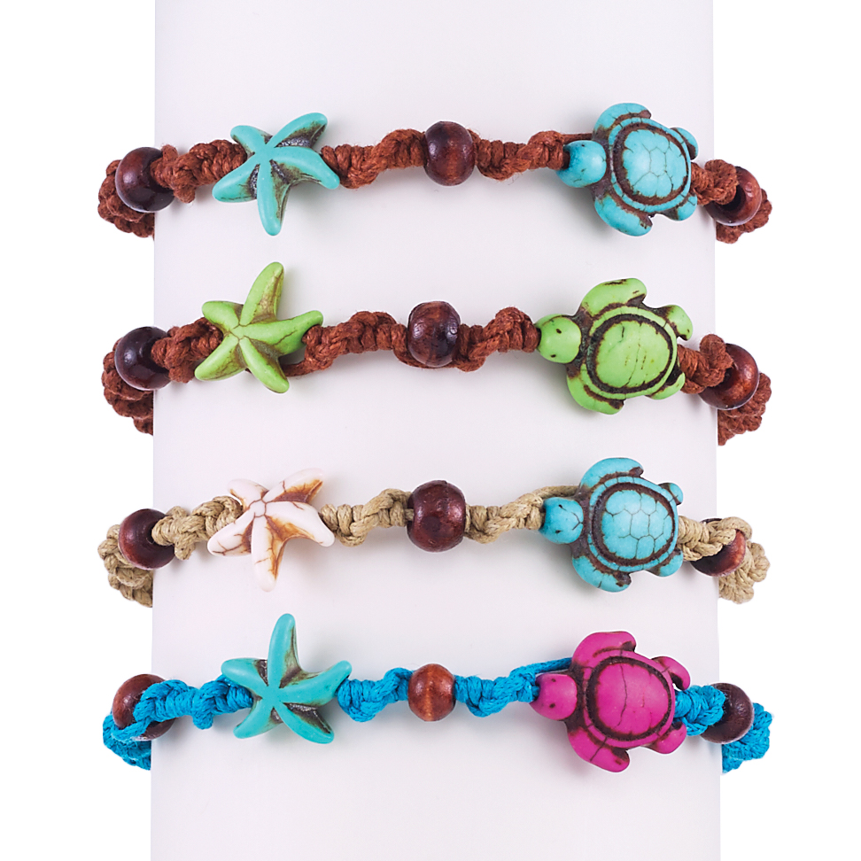 turtle imports product and end bracelet howlite sea world starfish