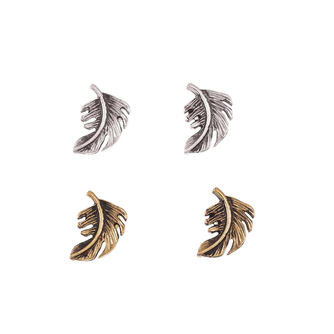 Feather Stud Earring