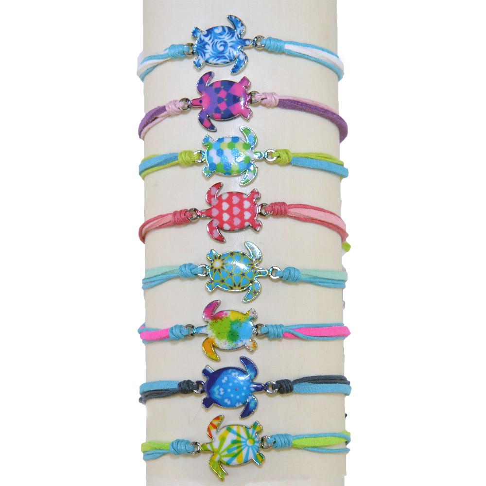 Resin Turtle Linen Bracelet